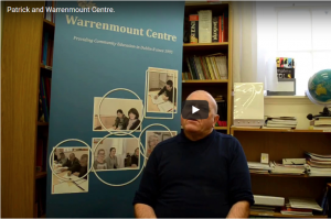 Patrick talks about attending classes at Warrenmount Centre