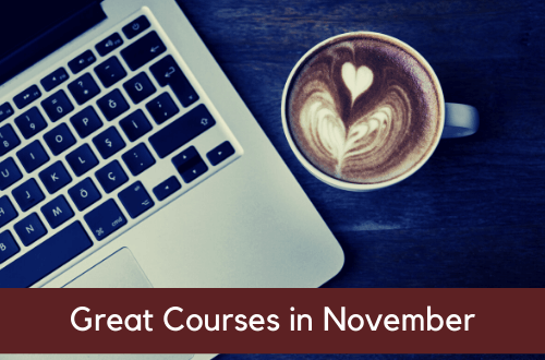 Great Courses starting in November
