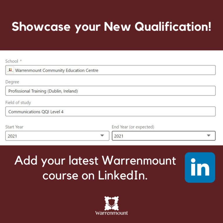 add-your-qualification-on-linkedin-warrenmount-course-community-education-centre-2
