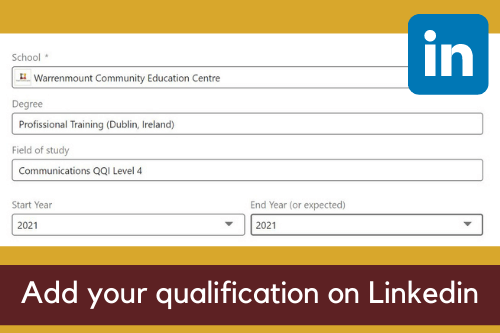 add-your-qualification-on-linkedin-warrenmount-course-community-education-centre